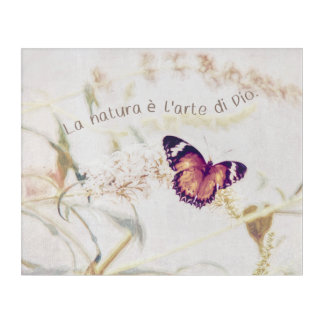 Leopard Lacewing Butterfly Edited Shabby and Chic Acrylic Print