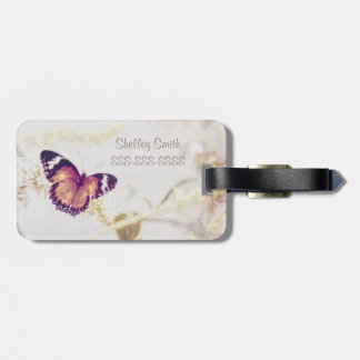 Leopard Lacewing Butterfly Edited Shabby and Chic Luggage Tag