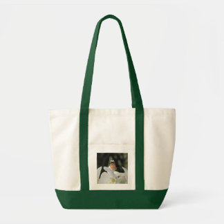 Leopard Lacewing Butterfly on White Orchid Impulse Tote Bag