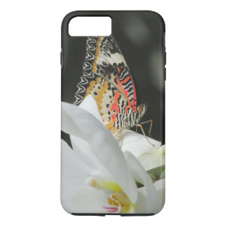 Leopard Lacewing Butterfly on White Orchid iPhone 8 Plus/7 Plus Case