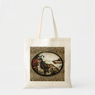 Leopard Lady Bag from Icart Etching Art Deco Style