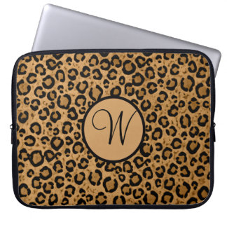 Leopard Laptop Sleeve With Initial