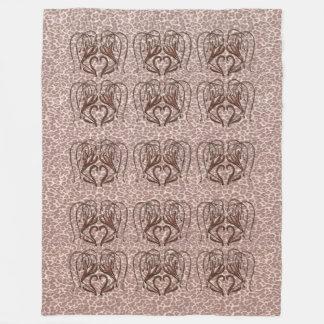 Leopard Lily Fleece Blanket