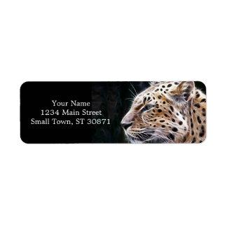 Leopard lines,Leopard painting Return Address Label