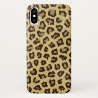 Leopard Look Print iPhone X Case