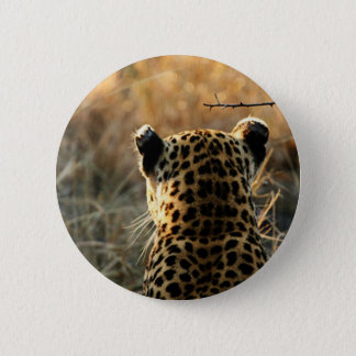 Leopard Looking Off Into Distance 2 Inch Round Button
