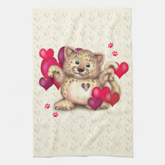 LEOPARD LOVE Linen with crockery Kitchen Towel