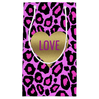 Leopard Love Pink And Purple Party Gift Bags