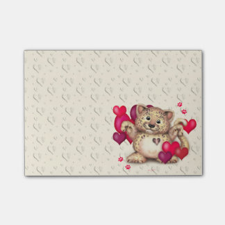 LEOPARD LOVE Post-it® Notes 4 x 3