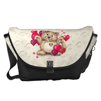 LEOPARD LOVE Rickshaw LARGE Messenger Bag 2