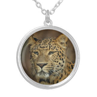 Leopard Lovers Silver Plated Necklace