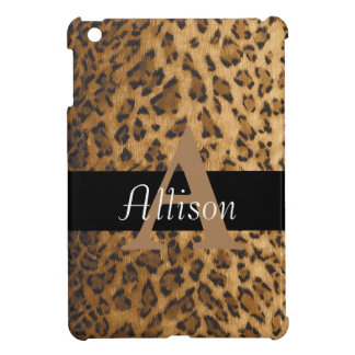 Leopard Monogram Initial Letter A Cover For The iPad Mini