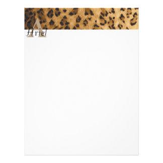 Leopard Monogram Initial Letter A Letterhead
