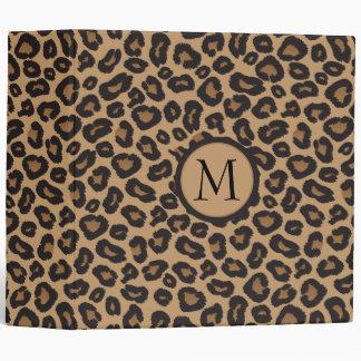 Leopard Monogram Photo Album Vinyl Binders
