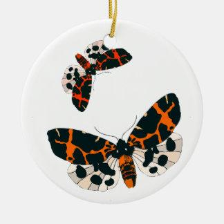 Leopard Moths in Flight Formation Ceramic Ornament