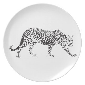 Leopard on a Prowl Plates