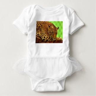 Leopard on Brown Log Baby Bodysuit