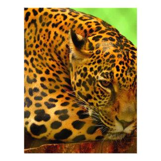 Leopard on Brown Log Letterhead