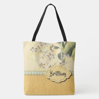 Leopard Orchids in Yellow and Cream Tote Bag