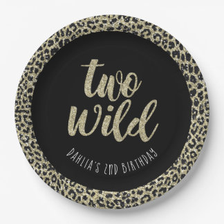 Leopard Party Plate Two Wild