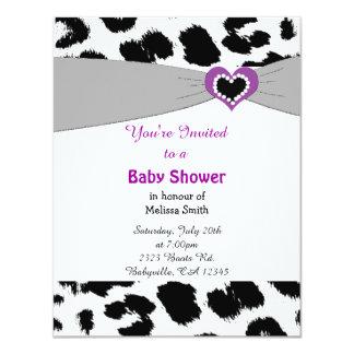 Leopard Pattern Baby Shower Invitation