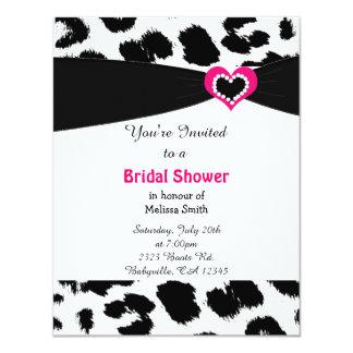 Leopard Pattern Bridal Shower Invitation
