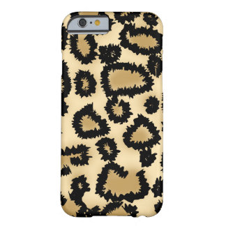 Leopard Pattern, Brown and Black. Barely There iPhone 6 Case