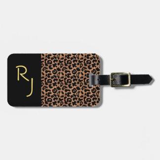 Leopard Pattern Custom Monogrammed Luggage Tag
