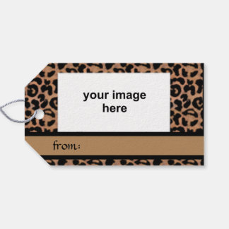Leopard Pattern Custom Photo Pack Of Gift Tags
