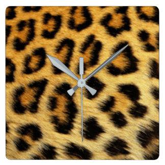 Leopard Pattern Print Design Clocks