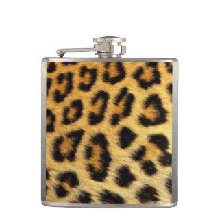 Leopard Pattern Print Design Hip Flask