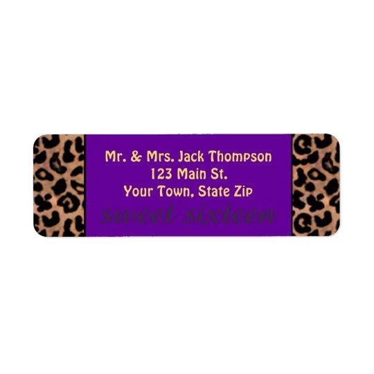 Leopard Pattern Purple Stripe Sweet 16