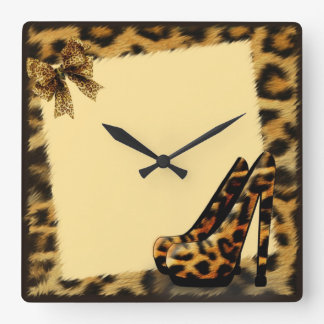Leopard Pattern Shoes personalized Wallclock