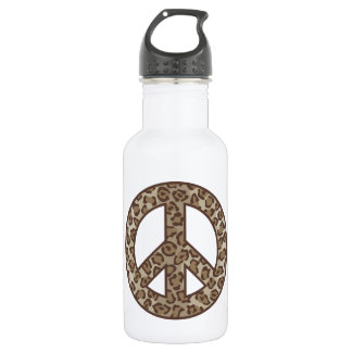 Leopard Peace Symbol 532 Ml Water Bottle