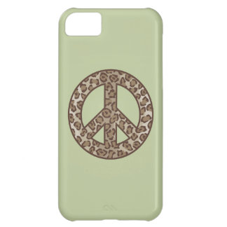 Leopard Peace Symbol Case For iPhone 5C