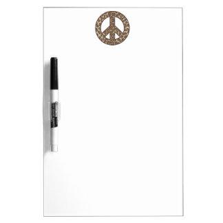 Leopard Peace Symbol Dry Erase Board