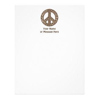 Leopard Peace Symbol Letterhead