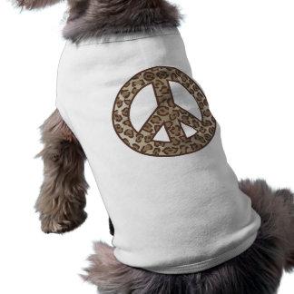 Leopard Peace Symbol Shirt