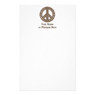 Leopard Peace Symbol Stationery