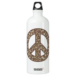 Leopard Peace Symbol Water Bottle