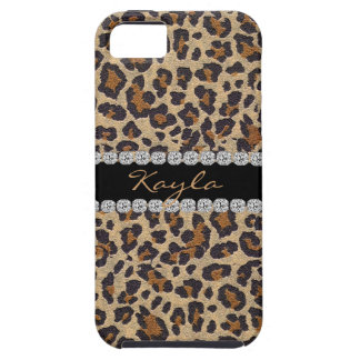 LEOPARD  PERSONALIZED BLING Iphone 5 COVER