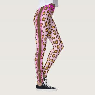 Leopard pink animal pattern leggings