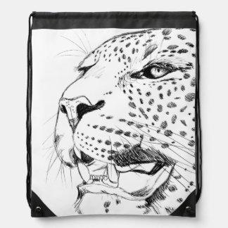 Leopard Drawstring Bags