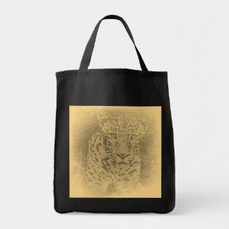 Leopard Portrait Vintage Bags