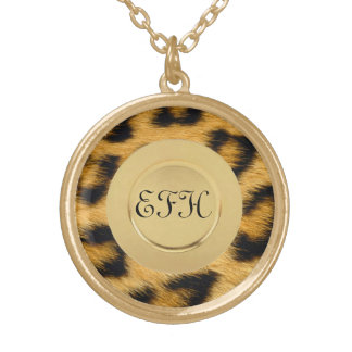 Leopard Print 1 Gold Plated Necklace