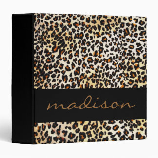 Leopard Print 3 Ring Binders