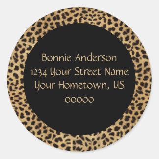 Leopard Print Address Sticker