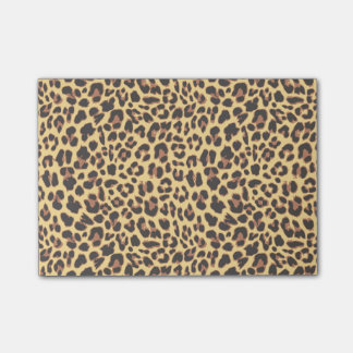 Leopard Print Animal Skin Pattern Post-it® Notes