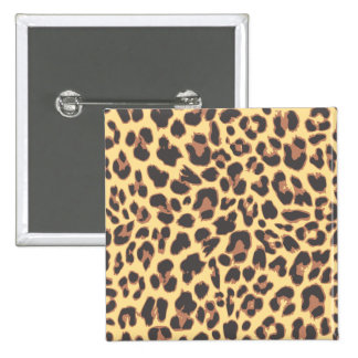 Leopard Print Animal Skin Patterns 2 Inch Square Button