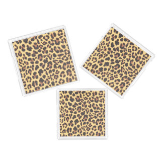 Leopard Print Animal Skin Patterns Acrylic Tray
